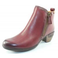 Pikolinos Women's Rotterdam 902-8900 In Garnet Calfskin Leather