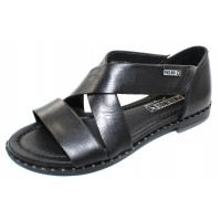 Pikolinos Women's Algar W0X-0552 In Black Calfskin Leather