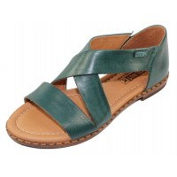 Pikolinos Women's Algar W0X-0552 In Emerald Calfskin Leather