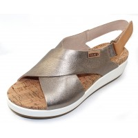 Pikolinos Women's Mykonos W1G-0757Cl In Stone Metallic/Tan Leather