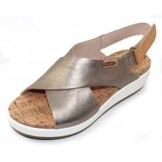 Pikolinos Women's Mykonos W1G-0757Cl In Stone Metallic/Tan Leather