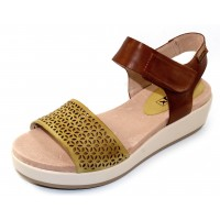 Pikolinos Women's Mykonos W1G-1733 In Sol Yellow/Brown Burnished Leather