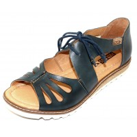Pikolinos Women's Alcudia W1L-0917 In Ocean Burnished Leather
