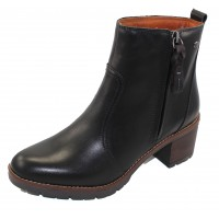 Pikolinos Women's Llanes W7H-8632 In Black Calfskin Leather