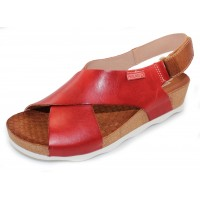 Pikolinos Women's Mahon W9E-0912 In Coral Calfskin Leather