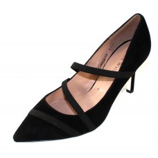 Ron White Women's Christie In Onyx Black Waterproof Suede/Elastic