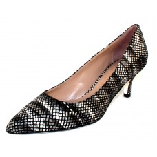 Ron White Women's Moreen In Onyx Black Rania Printed Suede