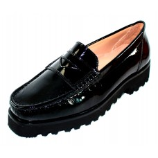 Ron White Women's Rita Penny In Onyx Black Patent Leather