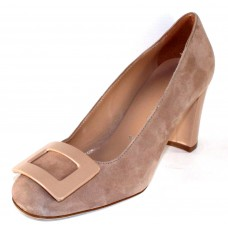 Ron White Women's Vietta In Nude Kid Suede/Patent Leather