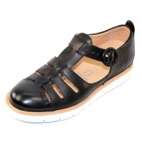 Samuel Hubbard Women's Anytime In Black Full Grain Leather