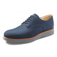 Samuel Hubbard Men's Bucks In Navy Nubuck/Silver Grey Outsole