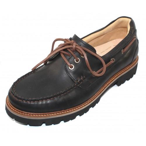 Samuel Hubbard Men's Camplight In Saddlebag Black Full Grain Leather