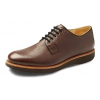 Samuel Hubbard Men's Highlander In Brown Pebble Grain Leather