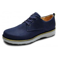 Samuel Hubbard Men's Hubbard Free In Navy Nubuck/Light Grey Outsole