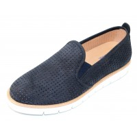 Samuel Hubbard Women's Kicks In Midnight Blue Nubuck