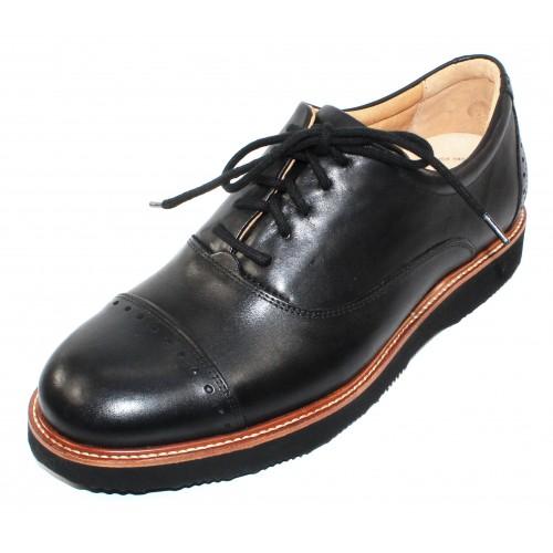 Samuel Hubbard Men's Market Cap In Black Full Grain Leather