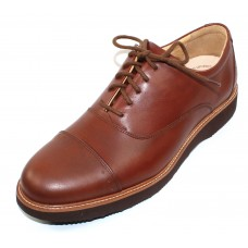 Samuel Hubbard Men's Market Cap In Whiskey Tan Full Grain Leather