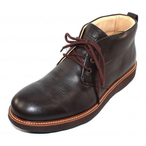 Samuel Hubbard Men's Re-Boot In Espresso Brown Full Grain Leather