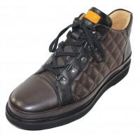 Samuel Hubbard Men's Step Ahead In Espresso Brown Leather/Black Sole