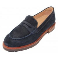 Samuel Hubbard Women's Tailored Traveler In Midnight Blue Suede