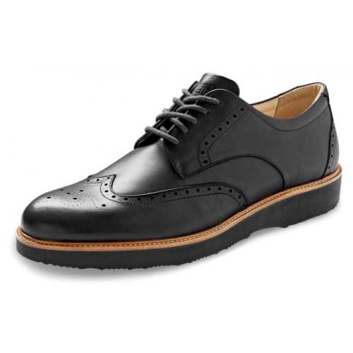 Samuel Hubbard Men's Tipping Point In Black Full Grain Leather/Black Outsole