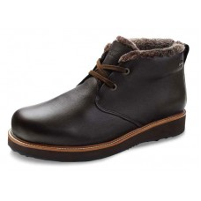 Samuel Hubbard Men's Winters Day Goretex In Espresso Brown Full Grain Leather/Black Ice Sole
