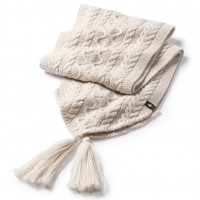 Smartwool Bunny Slope Scarf In Moonbeam Heather Nylon/Wool