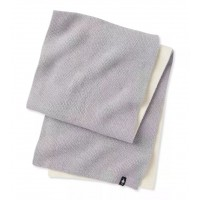 Smartwool Powder Pass Scarf In Light Gray Heather Wool/Acrylic
