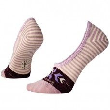 Smartwool Ouray Arrow Hide And Seek No Show Socks In Taupe Heather Wool/Nylon