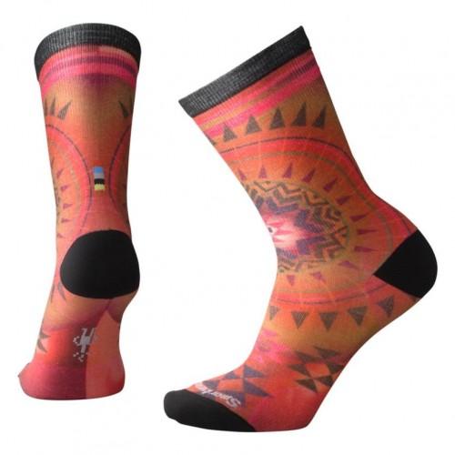 Smartwool Morningside Curated Crew Socks In Tandoori Orange Wool/Nylon