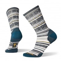 Smartwool Ethno Graphic Crew Socks In Dark Blue Steel Wool/Nylon