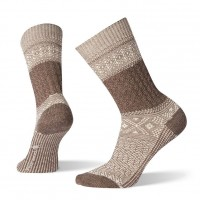 Smartwool Garter Stitch Texture Crew Socks In Taupe Wool/Nylon