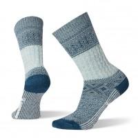 Smartwool Garter Stitch Texture Crew Socks In Frosty Green Wool/Nylon