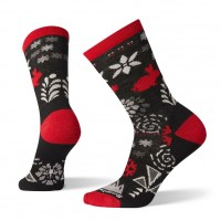 Smartwool Bunny Slope Crew Socks In Black Wool/Nylon