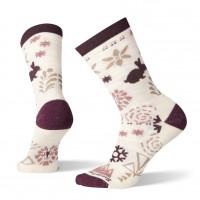 Smartwool Bunny Slope Crew Socks In Moonbeam Wool/Nylon