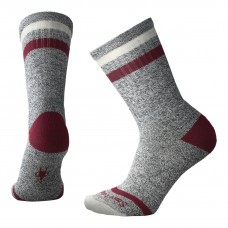 Smartwool Birkie Crew Socks In Tibetan Red Heather Wool/Nylon