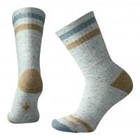 Smartwool Birkie Crew Socks In Mediterranean Green Heather Wool/Nylon