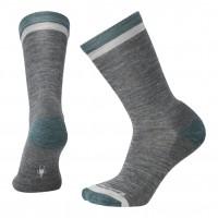 Smartwool Jitterbug Crew Socks In Medium Gray Heather Wool/Nylon