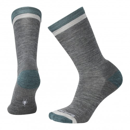 Smartwool Jitterbug Crew Socks In Medium Gray Heather Wool/Nylon
