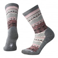 Smartwool Dazzling Wonderland Crew Socks In Medium Gray Heather Wool/Nylon