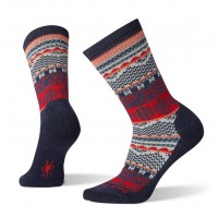 Smartwool Dazzling Wonderland Crew Socks In Deep Navy Wool/Nylon