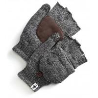 Smartwool Cozy Grip Flip Mitt In Black Wool/Acrylic/Leather