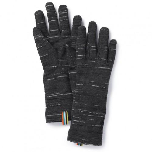 Smartwool Merino 250 Pattern Gloves In Charcoal-Black Wool