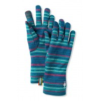 Smartwool Merino 250 Pattern Glove In Peacock Margarita Merino Wool