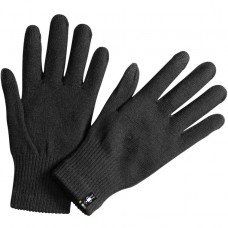 Smartwool Liner Gloves In Black Wool/Acrylic/Poly