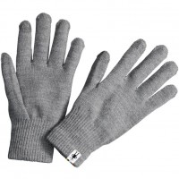 Smartwool Liner Gloves In Silver Gray Heather Wool/Acrylic/Poly