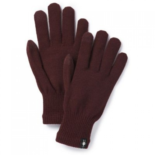 Smartwool Liner Gloves In Fig Wool/Acrylic/Poly