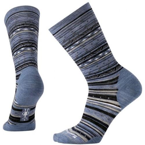 Smartwool Ethno Graphic Crew Socks In Blue Steel Heather Wool/Nylon