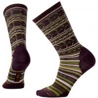 Smartwool Ethno Graphic Crew Socks In Bordeaux Heather Wool/Nylon