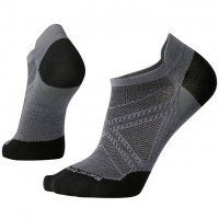 Smartwool Phd Run Ultra Light Micro Socks In Graphite/Black Wool/Nylon